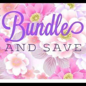 Bundle 2 or more items for a great discount